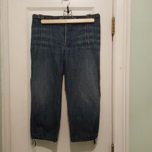 7FAMK button fly crop jeans size 27